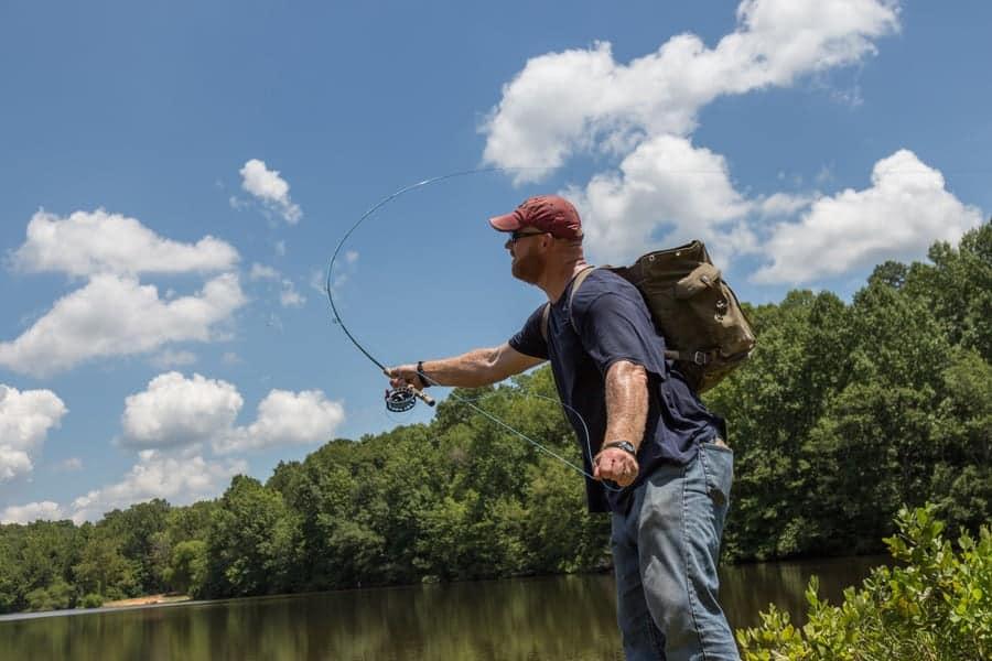 Fishing at Andrew Jackson State Park near Lancaster SC
