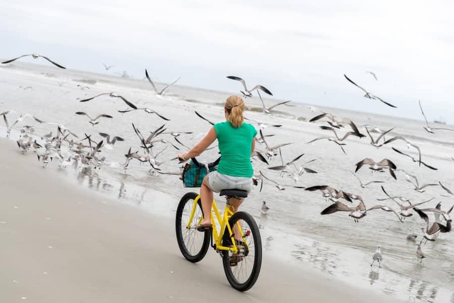 Biking Along Edisto Beach's Shoreline