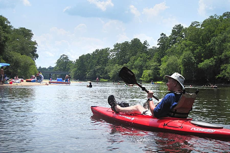 An Edisto River Kayaking Trail Ends at Givhans Ferry State Park