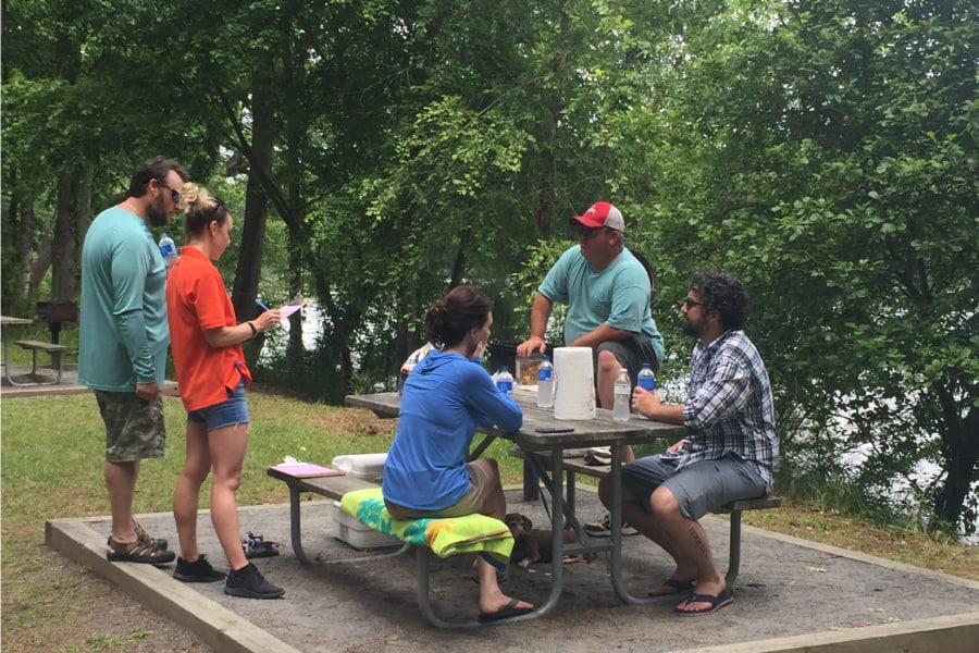 Clemson University Students Conduct Surveys in the Field